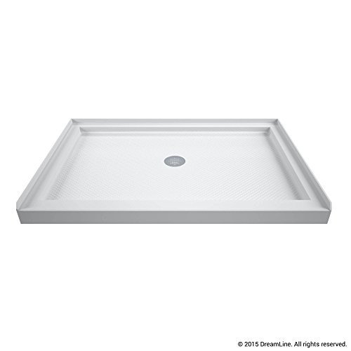 DreamLine SlimLine 32 in. D x 48 in. W x 2 3/4 in. H Center Drain