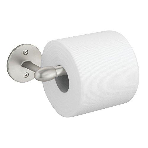 mDesign Modern Metal Toilet Tissue Paper Roll Holder