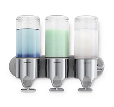 Simplehuman Triple Wall Mount Shower Pump Dispenser
