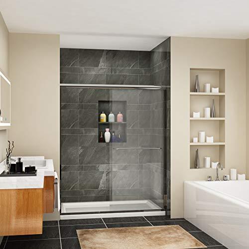 SUNNY SHOWER B020, Frameless Bypass Sliding Shower Doors