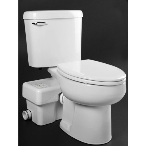 Macerating Toilet, Round, 1/2 HP, 115V
