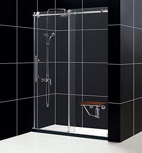 DreamLine Enigma-X 56-60 in. W x 76 in. H Fully Frameless Sliding Shower Door