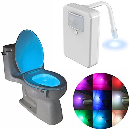 Longans Toilet Light,Toilet Bowl Light, Led Motion Activated