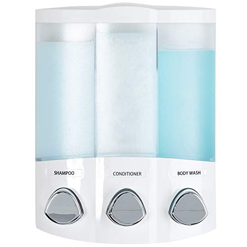 Better Living Products 76354 3-Chamber Shower Dispenser