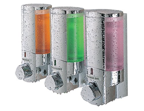 Better Living Products 76345 3 Chamber Shower Dispenser