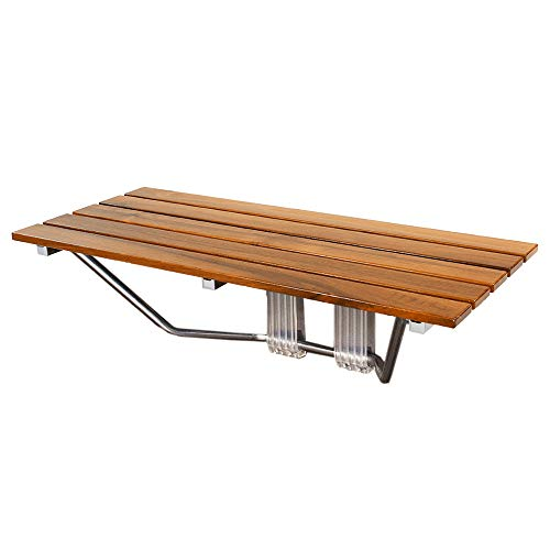 Clevr Foldable Teak Wood Shower Bench