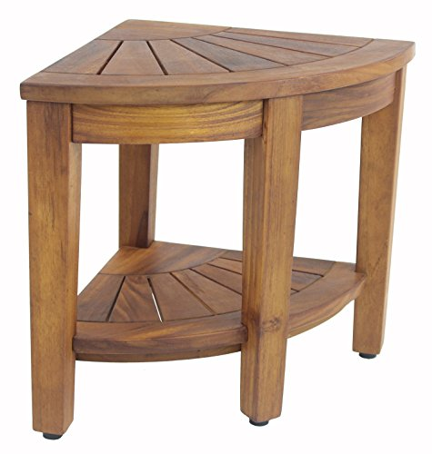 Aqua Teak Kai Corner Teak Shower Bench