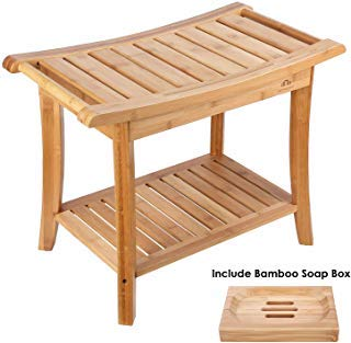 HOMECHO Bamboo Shower Bench