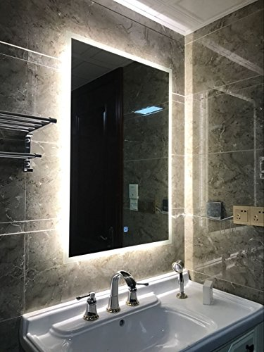 DIYHD Box Diffusers LED Bathroom Mirror