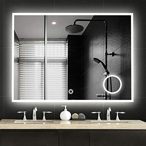 NeuType Large LED Wall Mounted Bathroom Mirror