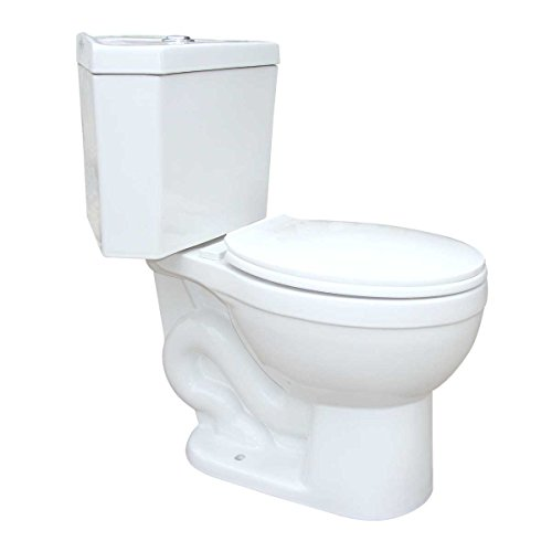 Renovators Supply Manufacturing Corner White Round Dual Flush