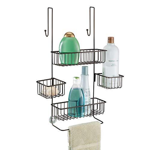 iDesign Metalo Bathroom Over the Door Shower Caddy