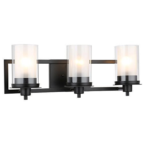 Designers Impressions Juno Matte Black 3 Light Wall