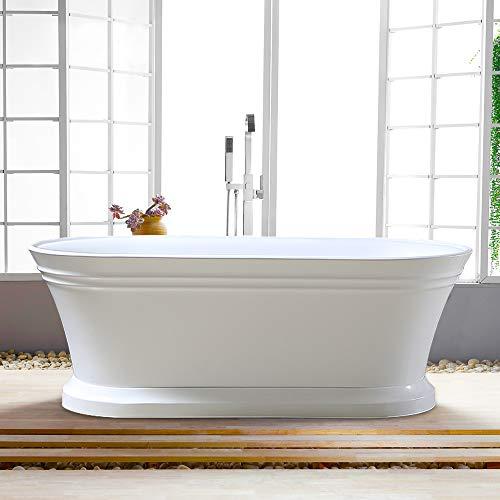 Vanity Art 59- Inch Freestanding Acrylic Bathtub