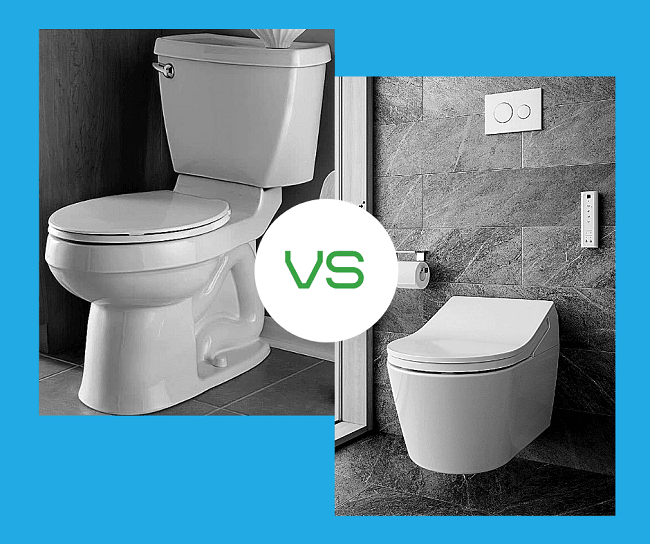 Difference Between Wall-Hung Vs. Standard Toilet